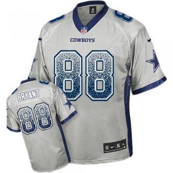 Nike Dallas Cowboys 88 Dez Bryant Grey Male Elite Drift jersey