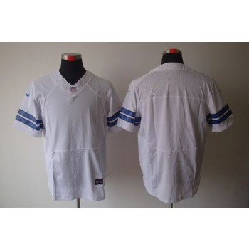 Nike Dallas Cowboys Blank White Elite NFL Jersey
