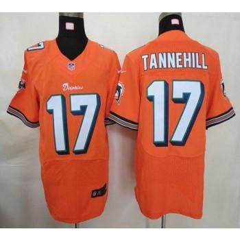 Nike Miami Dolphins No.17 Ryan Tannehill Orange Elite Jersey