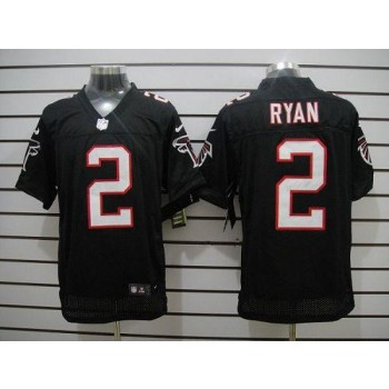 Nike Atlanta Falcons 2 Matt Ryan Black Elite Football Jersey