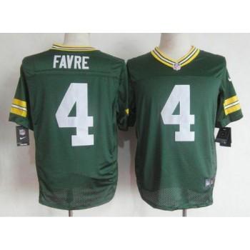 Nike Green Bay Packers No.4 Brett Favre Green Male Elite Jersey