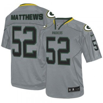Nike Green Bay Packers No.52 Clay Matthews Lights Out Grey Elite Stitched Football Jersey
