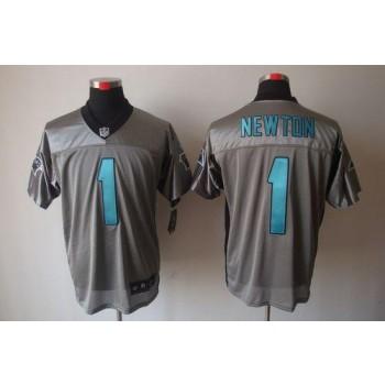 Nike Carolina Panthers 1 Cam Newton Grey Shadow Elite Football Jersey