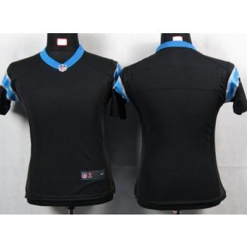 Nike Panthers Blank Black Women's Game Jersey