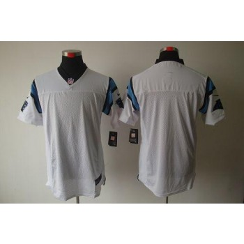 Nike Carolina Panthers Blank White Elite Football Jersey