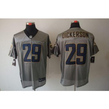 Nike St.Louis Rams No.29 Eric Dickerson Grey Shadow Elite Jersey