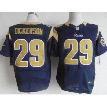 Nike St.Louis Rams No.29 Eric Dickerson Navy Blue Male Elite Jersey