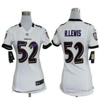 NFL Nike Baltimore Ravens 52 Ray Lewis White Women's Elite Jersey