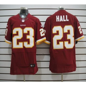 Nike Washington Redskins No.23 DeAngelo Hall Burgundy Red Elite Football Jersey