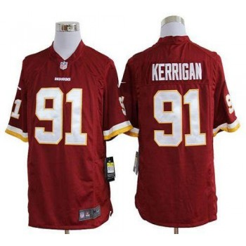 Nike Washington Redskins No.91 Ryan Kerrigan Burgundy Red Game Football Jersey