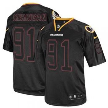 Nike Washington Redskins No.91 Ryan Kerrigan Lights Out Black Elite Football Jersey
