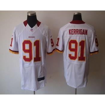 Nike Washington Redskins No.91 Ryan Kerrigan White Elite Football Jersey