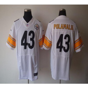 Nike Pittsburgh Steelers No.43 Troy Polamalu White Elite Jersey