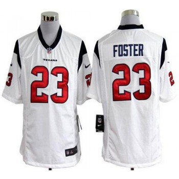 Nike Houston Texans No.23 Arian Foster White Game Stitched Football Jersey