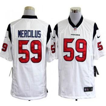 Nike Houston Texans No.59 Whitney Mercilus White Game Stitched Football Jersey