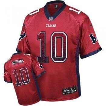 Nike Houston Texans No.10 DeAndre Hopkins Red Alternate Male Embroidered Elite Drift Fashion Jersey