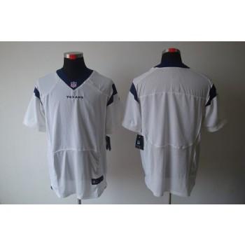 Nike Houston Texans Blank White Elite Stitched Football Jersey