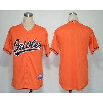 MLB Orioles Blank Orange Cool Base Men Jersey