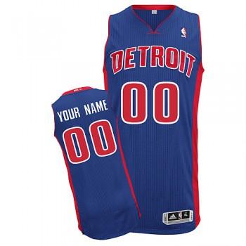 NBA Pistons Blue Customized Men Jersey