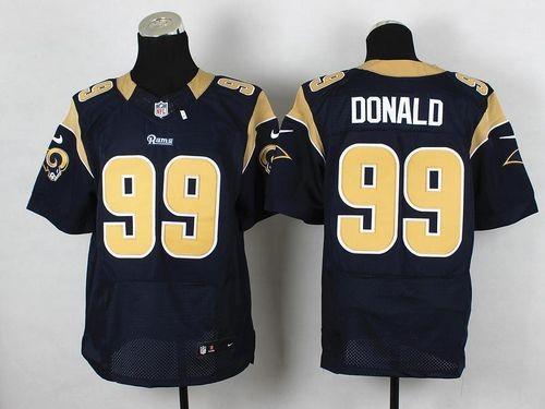 4d69a6c3f96 Nike St.Louis Rams No.99 Aaron Donald Navy Blue Men s Football Elite Jersey