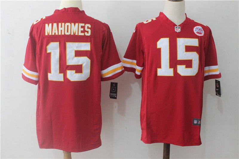 3d107ecd290 Nike Kansas City Chiefs 15 Patrick Mahomes Red Game Men Jersey