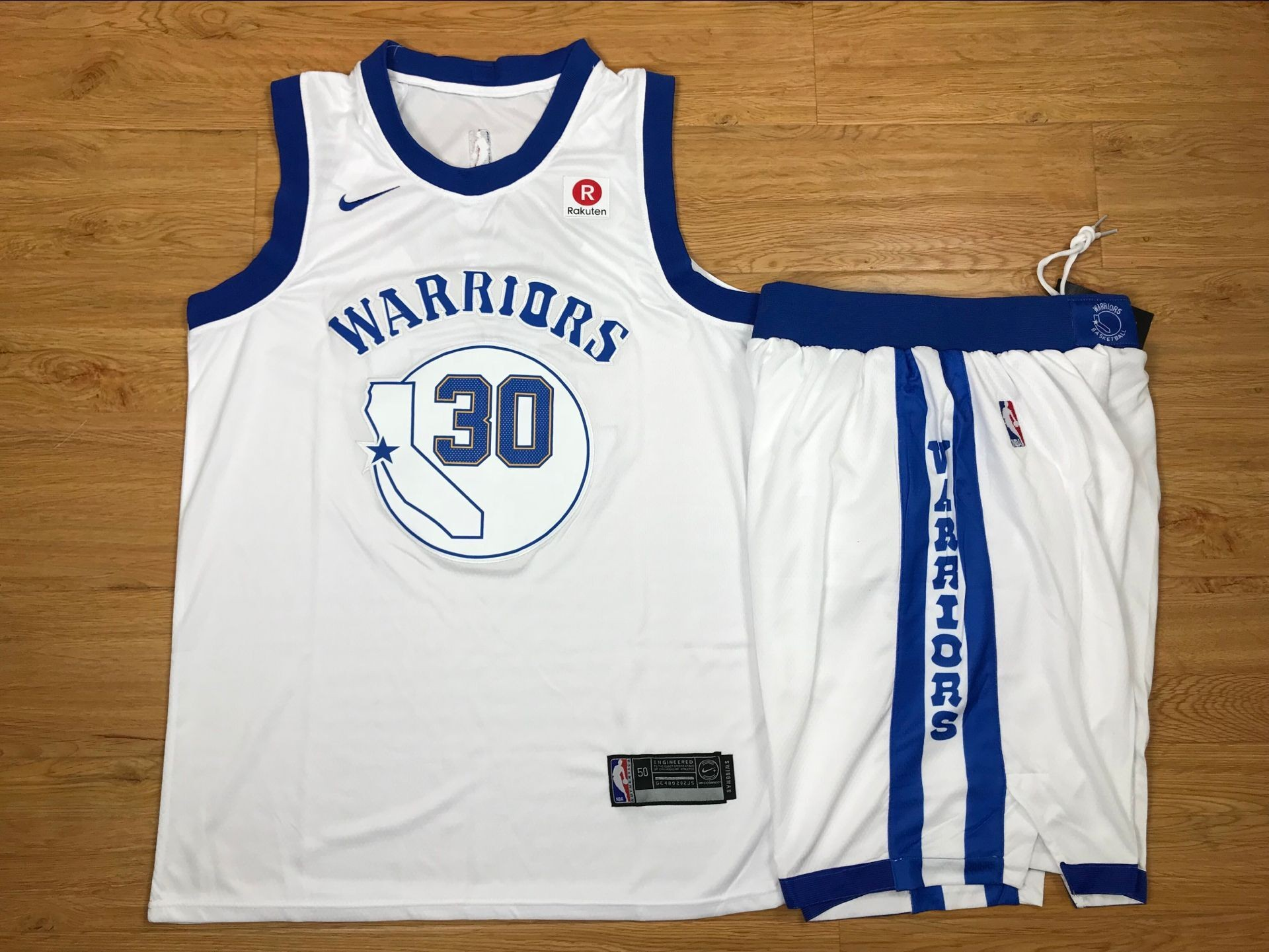 88bddc0153a NBA Warriors 30 Stephen Curry White Fashion Current Player Hardwood  Classics Nike Men Jersey With Shorts