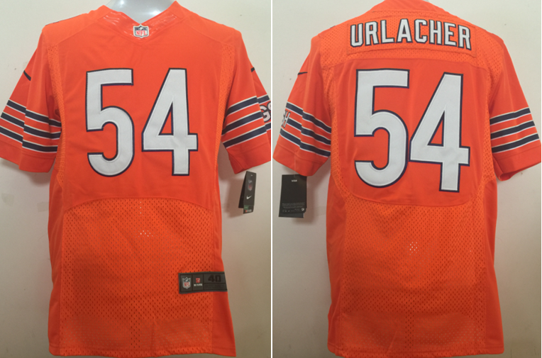 Nike NFL Chicago Bears 54 Brian Urlacher Orange NFL Elite Men Jersey 53d64f33b