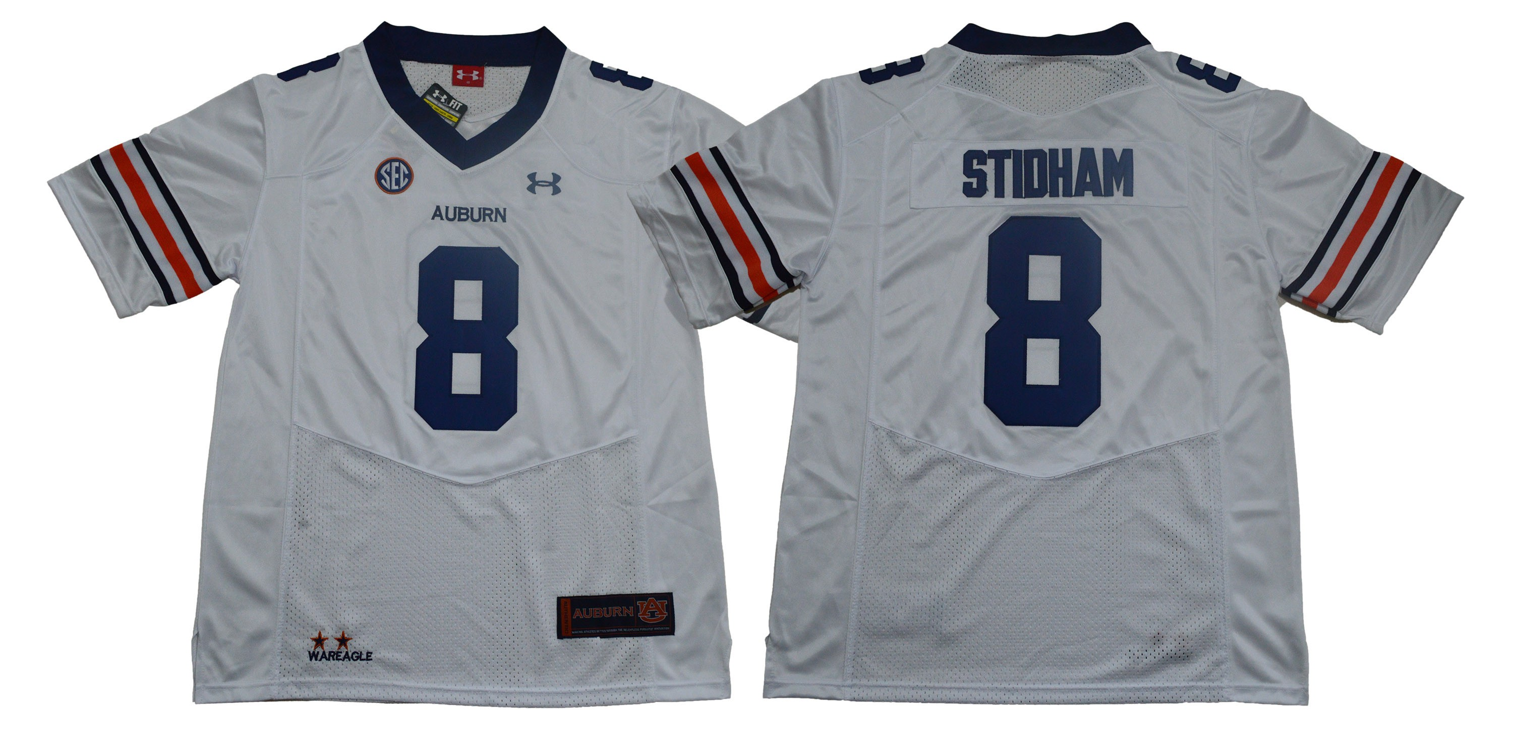 ca338ba7a7b NCAA Auburn Tigers 8 Jarrett Stidham White College Football Men Jersey