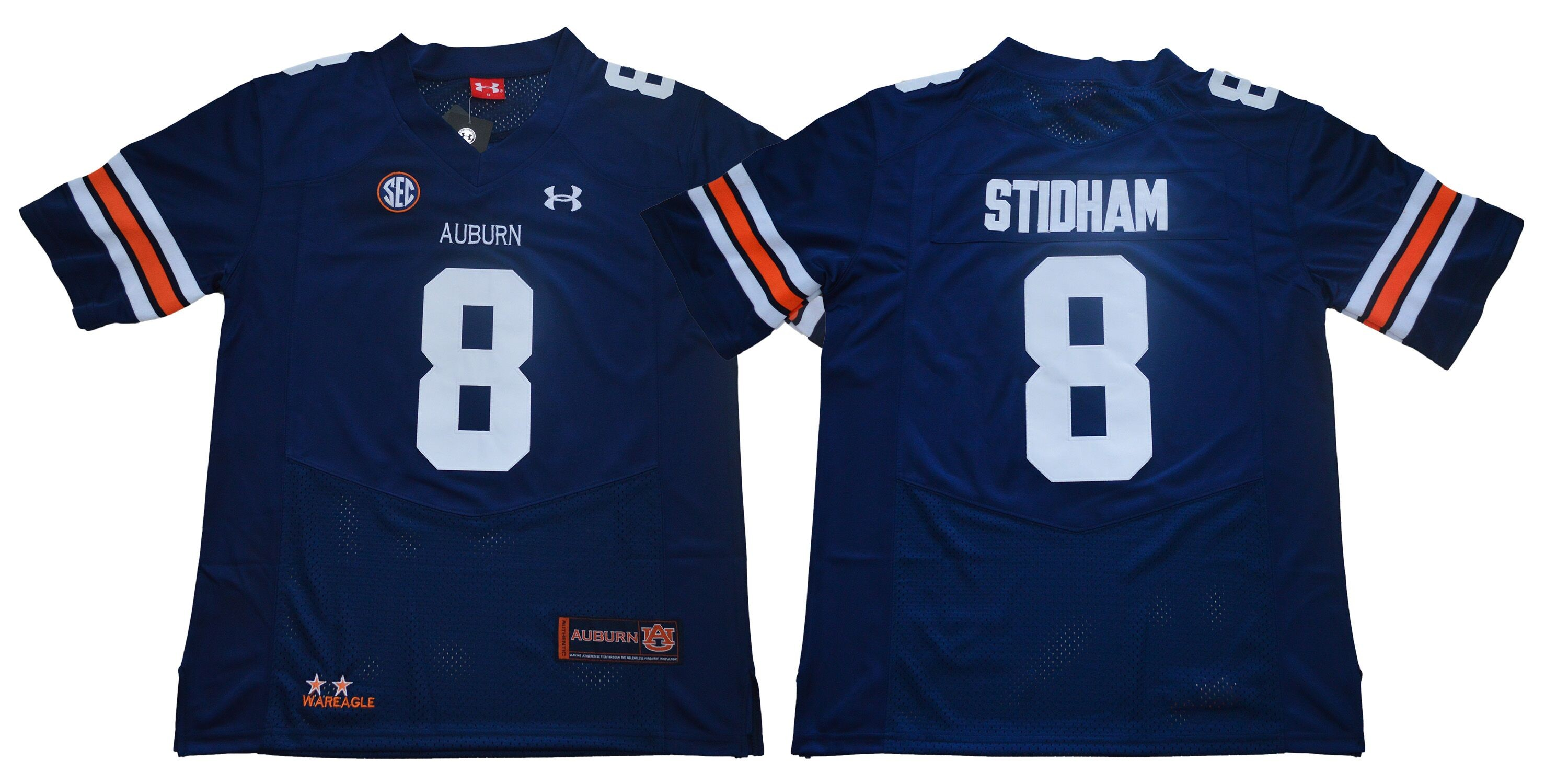dfa438882d2 NCAA Auburn Tigers 8 Jarrett Stidham Navy College Football Men Jersey