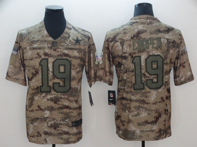 fede8f9e3 Nike Cowboys 19 Amari Cooper 2018 Camo Salute To Service Limited Men Jersey