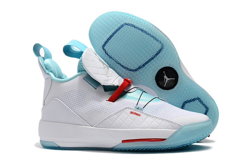 502d78ff9302b6 Air Jordan 33 Guo Ailun PE White Jade-Red Shoes