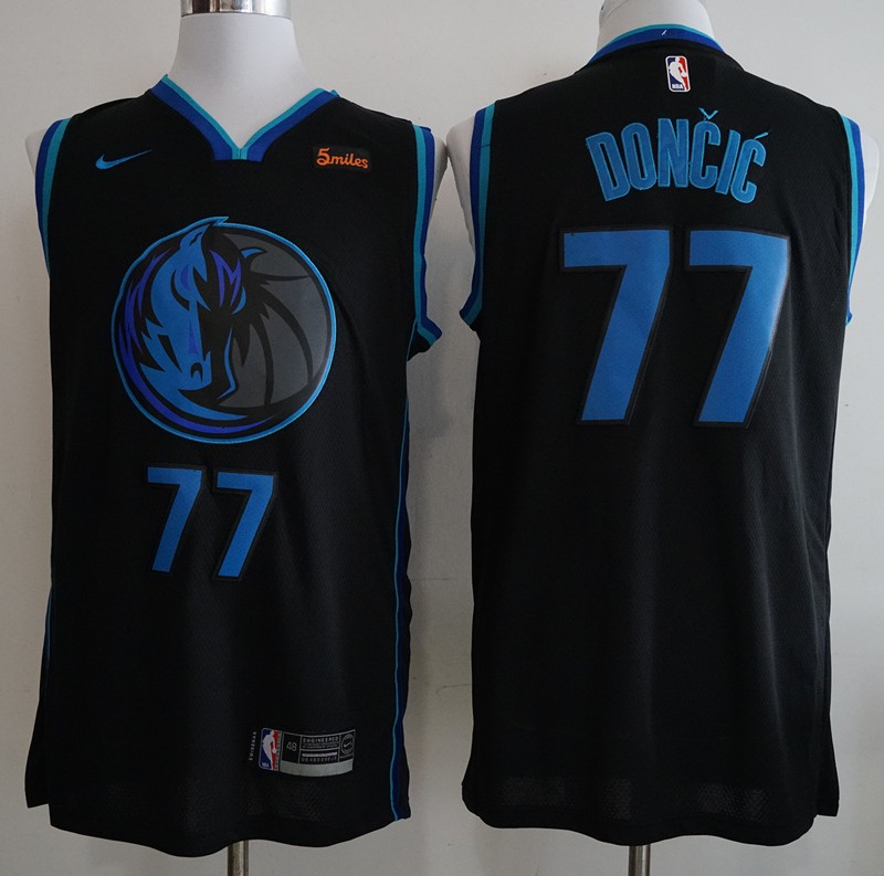 4f1213bdf29 NBA Mavericks 77 Luka Doncic Anthracite 2018-19 City Edition Swingman Nike  Men Jersey