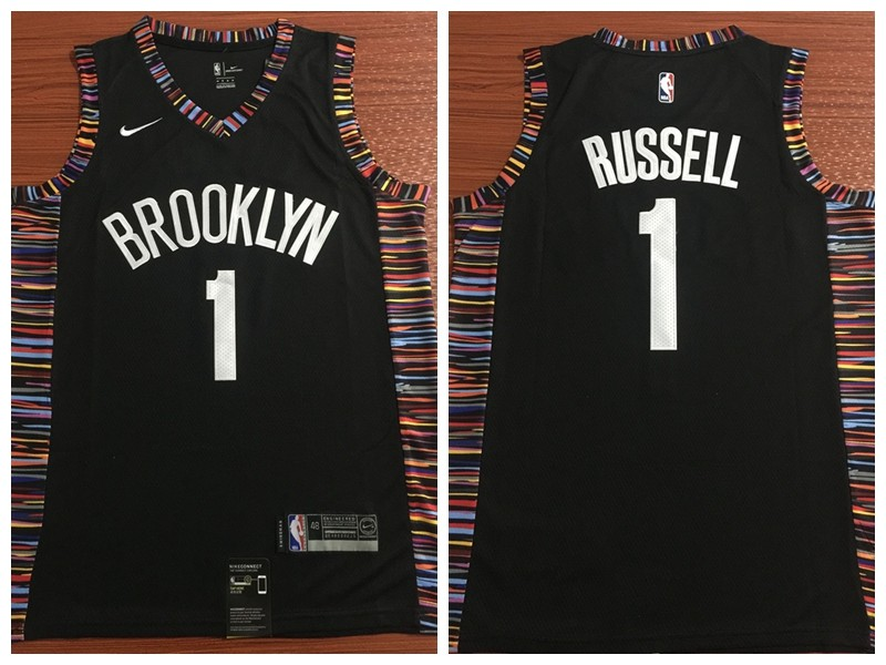 NBA Nets 1 D Angelo Russell Black 2018-19 City Edition Swingman Nike Men  Jersey 51e6fb4c3