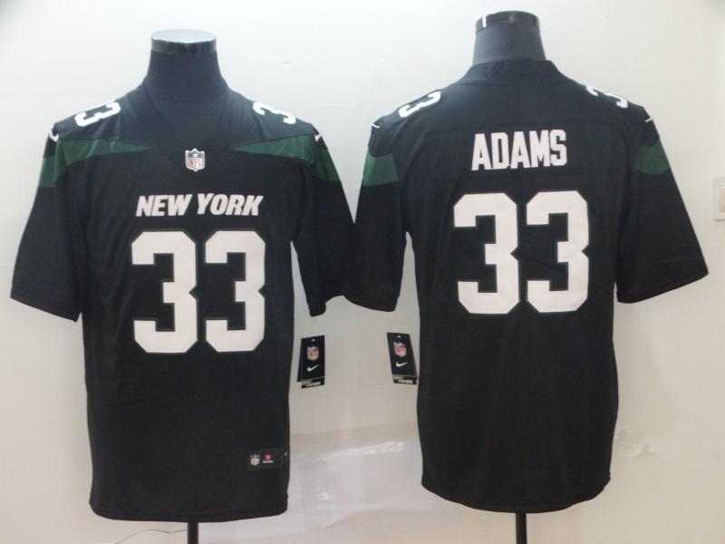 bd874a404af Nike Jets 33 Jamal Adams Black New 2019 Vapor Untouchable Limited Men Jersey
