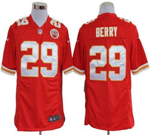 a9ccf766b03 Nike Kansas City Chiefs No.29 Eric Berry Red Game Stitched Football Jersey