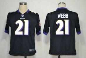 Nike NFL Baltimore Ravens 21 Lardarius Webb Black NFL Game Football Jersey
