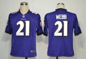 Nike NFL Baltimore Ravens 21 Lardarius Webb Purple NFL Game Football Jersey