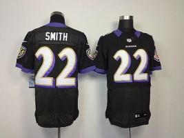 Nike NFL Baltimore Ravens 22 Jimmy Smith Black NFL Elite Football Jersey