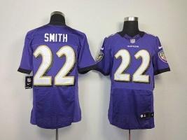 Nike NFL Baltimore Ravens 22 Jimmy Smith Purple NFL Elite Football Jersey