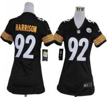 buy popular 52a55 3f5d2 NFL Nike Steelers 92 James Harrison Black Women's Elite Jersey