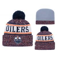 eb7a3081738 NHL Oilers Team Logo Orange Pom Knit Hat YD