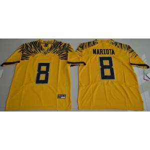 NCAA Oregon Ducks 8 Marcus Mariota Gold Men Jersey
