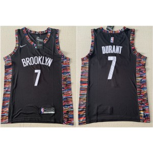 NBA Brooklyn Nets 7 Kevin Durant Black City Edition Nike Men Jersey