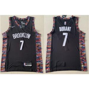 NBA Brooklyn Nets 7 Kevin Durant Black City Edition Nike Men Jersey