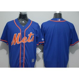 MLB Mets Blank Blue New Cool Base Alternate Home Men Jersey