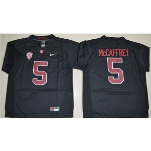 NCAA Stanford Cardinal 5 Christian McCaffrey Black Men Jersey