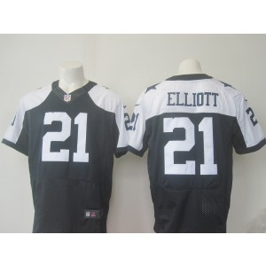 be7b2b997 Nike Cowboys 21 Ezekiel Elliott Navy Blue Thanksgiving Men 2016 Draft Throwback  Elite Jersey