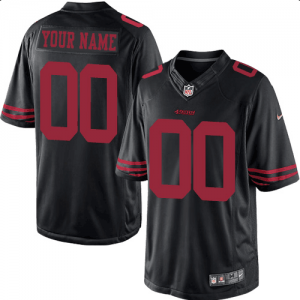 NFL 49ers Alternate Black Limited Customized Men Jersey