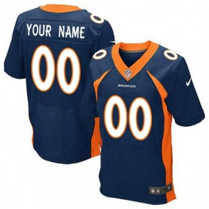 NFL Broncos Navy Blue Nike Elite Customized Men Jersey