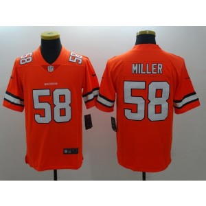 Nike NFL Broncos 58 Von Miller Orange Color Rush Men Limited Jersey